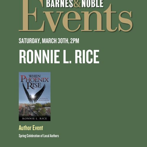 Advertisement for an upcoming book review sponsored by B&N.