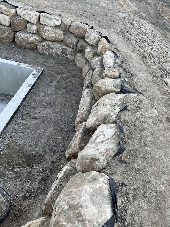 Walkout Basement Retaining Wall
