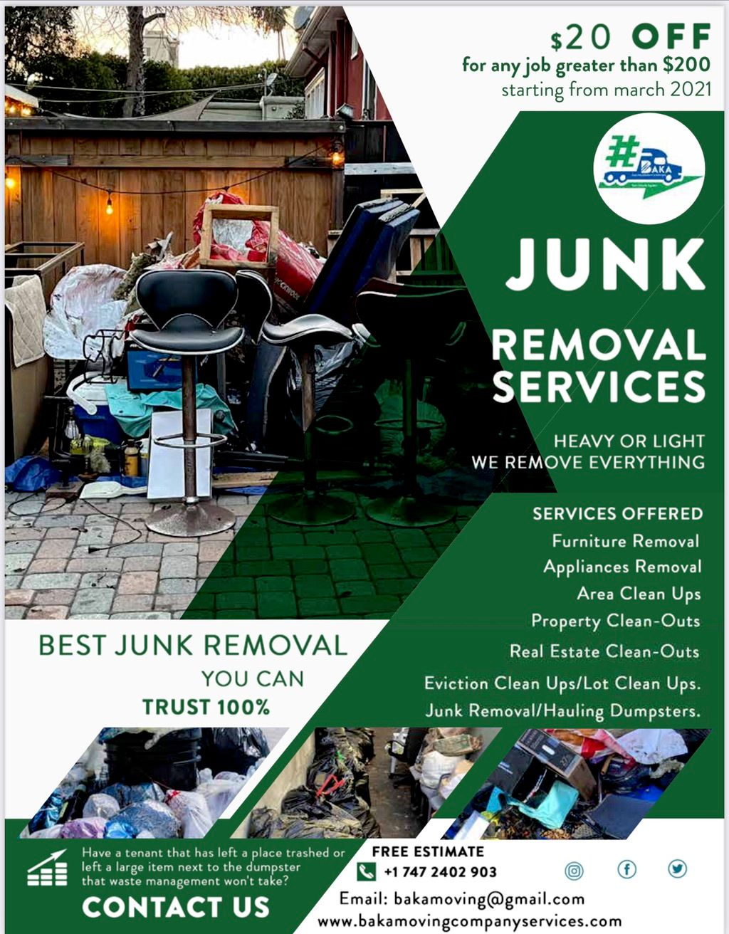 Baka junk removal and service