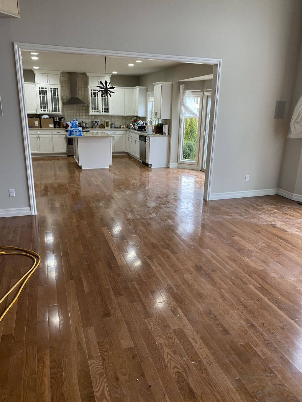 Sanding prefinished hardwood floor red oak
