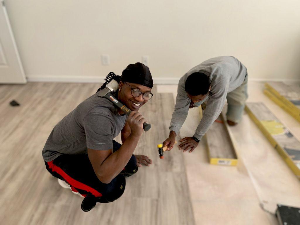 All in 1 renovation flooring installation