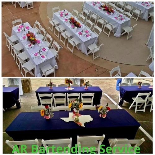 Chairs & tables rentals