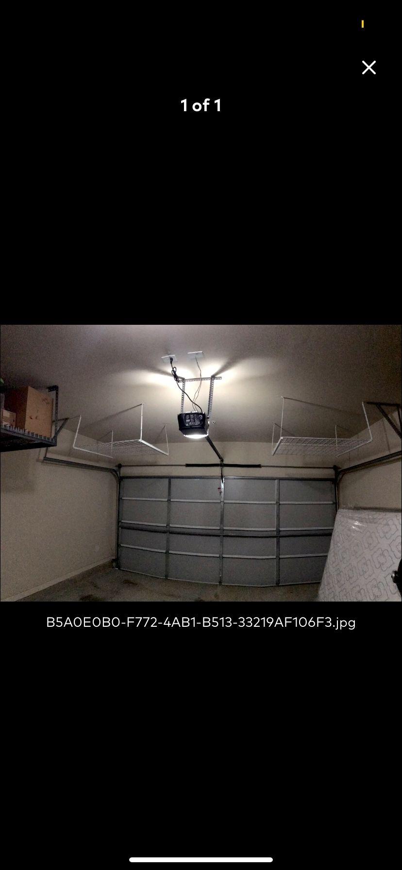 Garage storage shelving