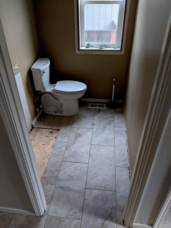Half-bath floor replacement
