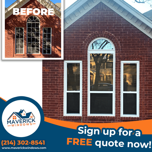 Before and After: Window Replacement Flower Mound, Texas