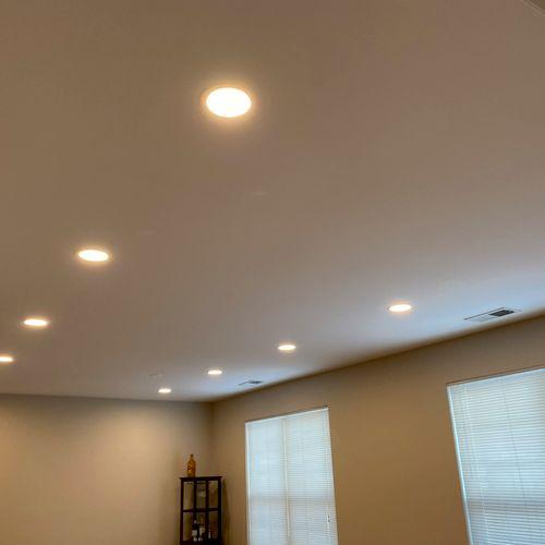 New recessed lighting upgrade.