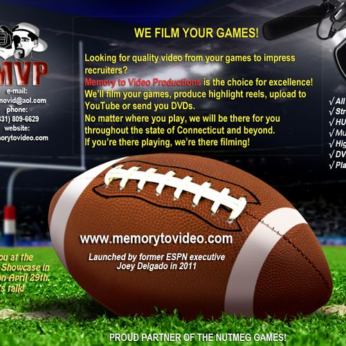 We Stream and Film Sports and Other Events
