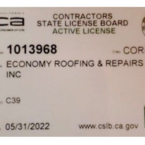 Verify your contractor's license at cslb.ca.gov