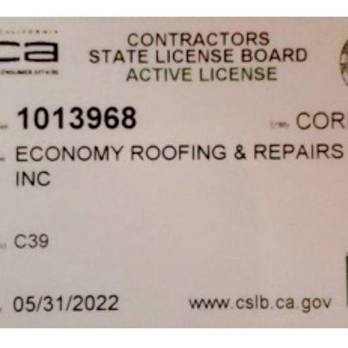 Verify your contractor's license at cslb.ca.gov