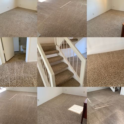 After shots of carpet cleaning 3 bedroom.  Move out.