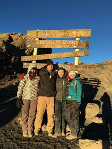 Our clients reached the top and made it back down without any issues!  You too can reach your goals, even if they are the tops of a mountain!