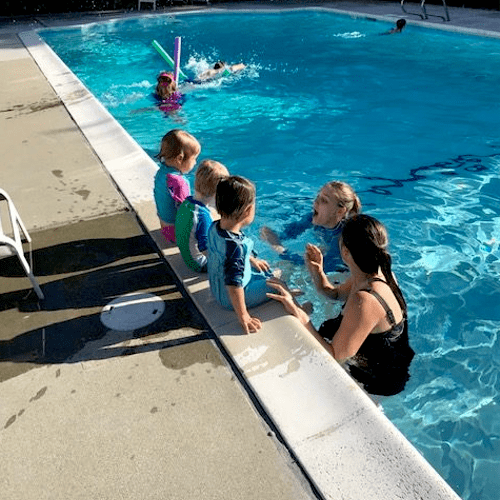 Group Swimming Lessons at a partner Homeowners Association pool.