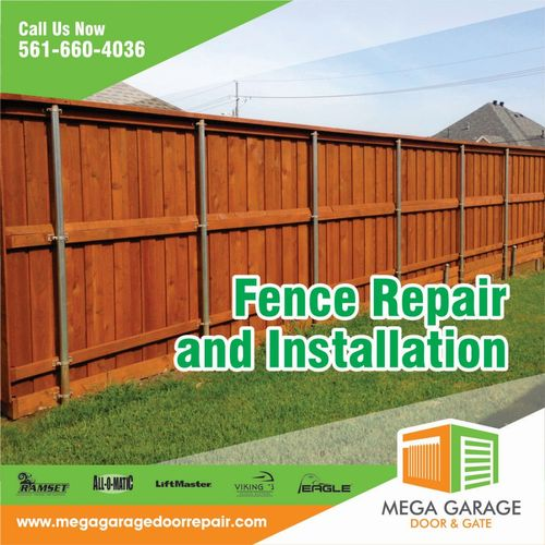 Contact us for your Fence Repair & Installation needs in South Florida!