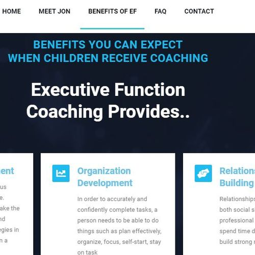 Web Design Project For An Executive Function Coach
