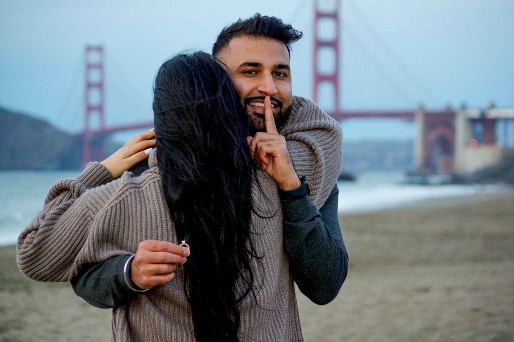 Surprise Proposal at Baker Beach