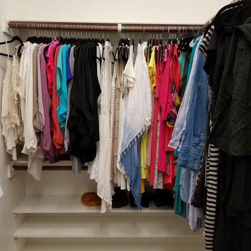 (After) Master Closet