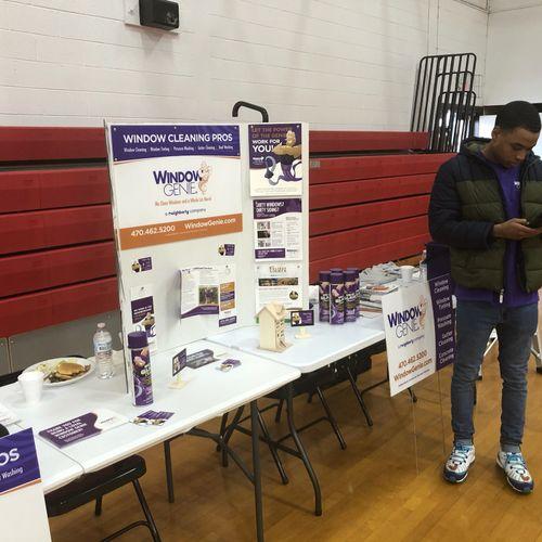 Window Genie Career Fair - Giving Back to Community
