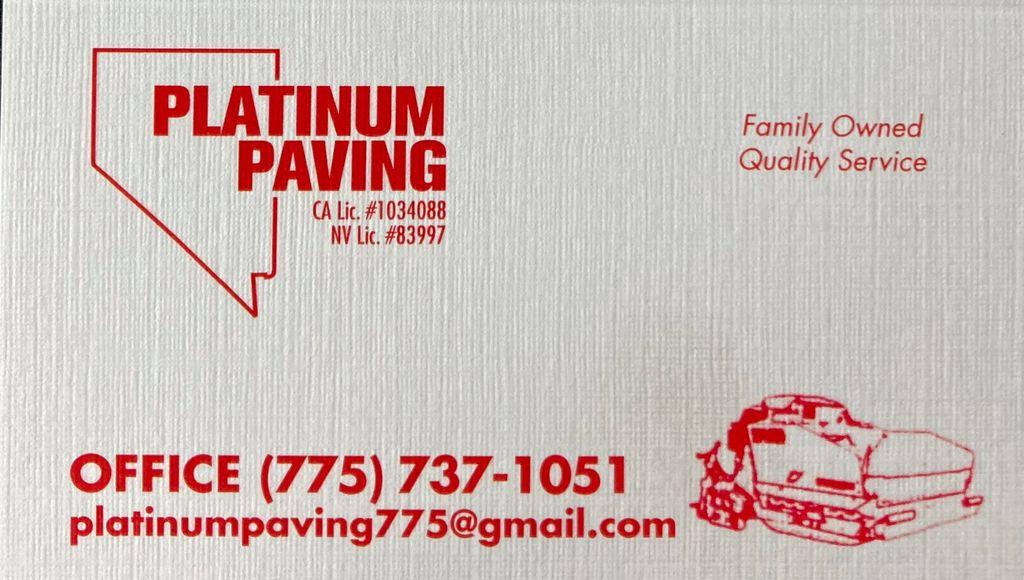 Platinum paving