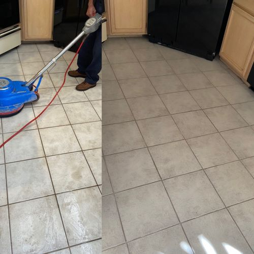 Tile and grout included in our move out cleanings.