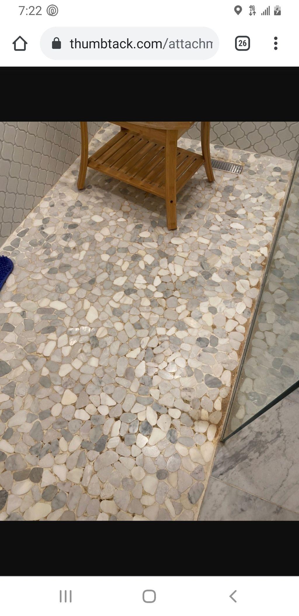 Re grouting shower floor