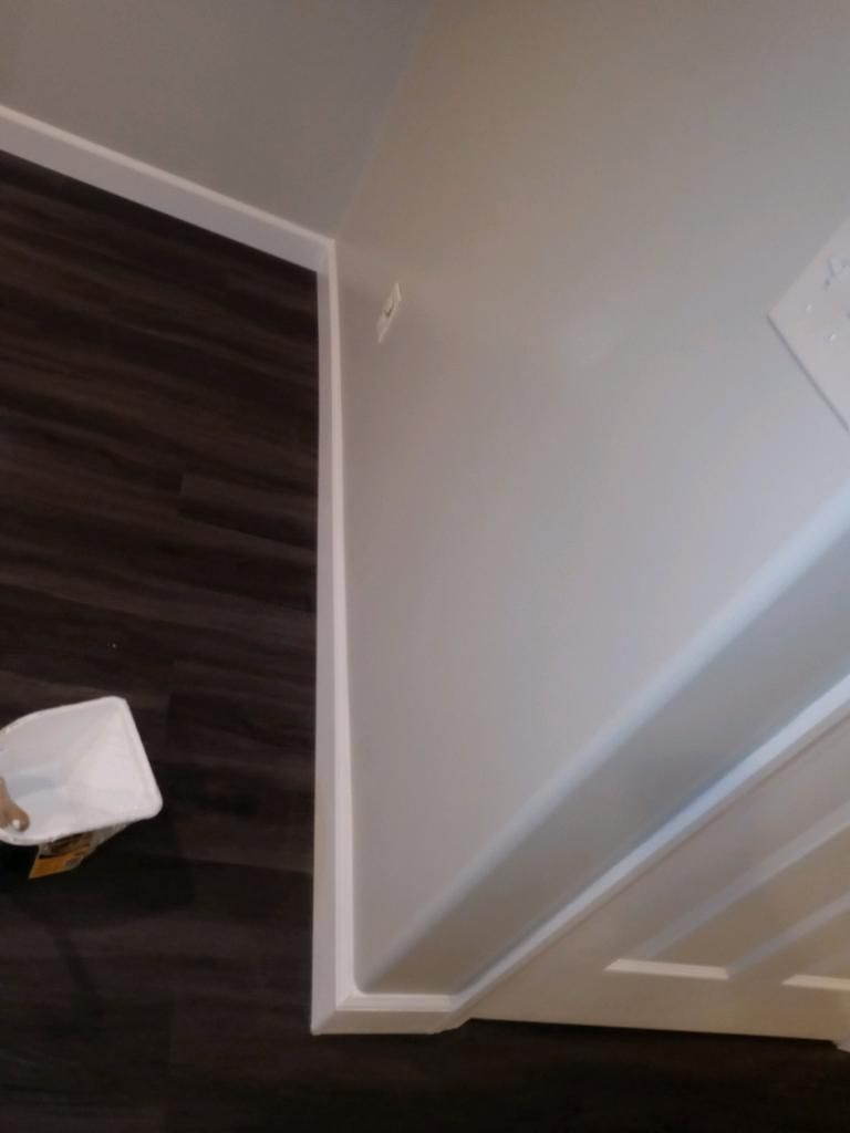 Baseboard paint and installation
