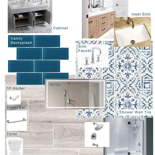 Small Bathroom Design Board