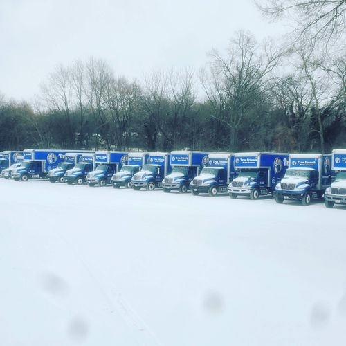 These trucks are ready to come out of hibernation. Excited for a big week ahead. We survived Snowmagedden 2021