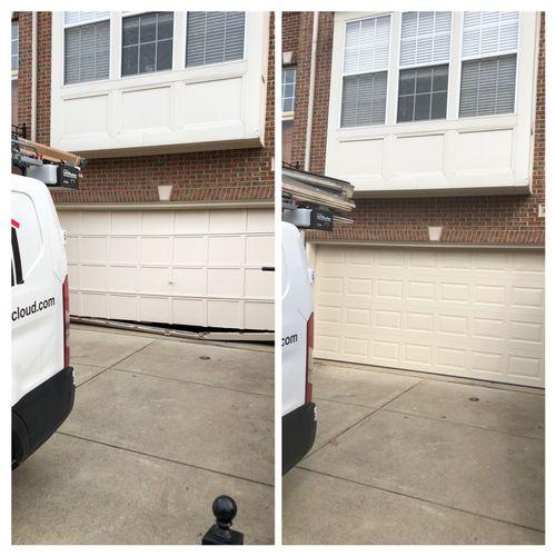 16'0 x 7'0 wood door replaced