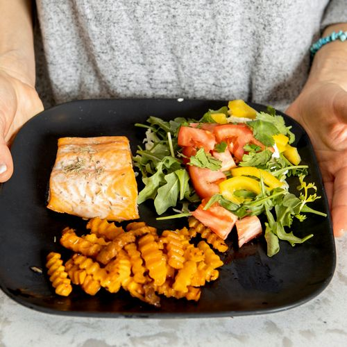 Balanced and satisfying meal from meal plan!