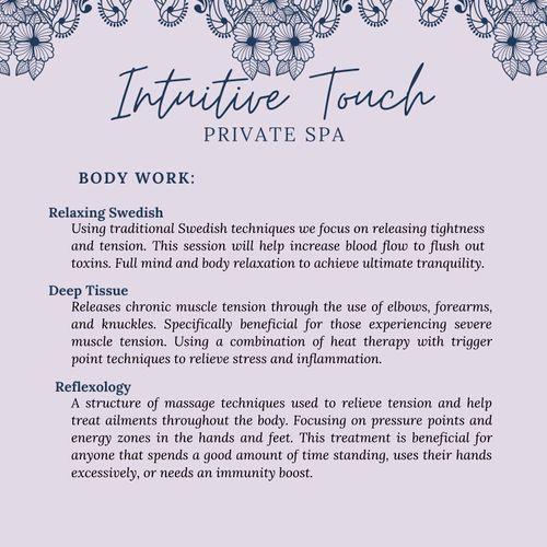 Intuitive Touch Menu