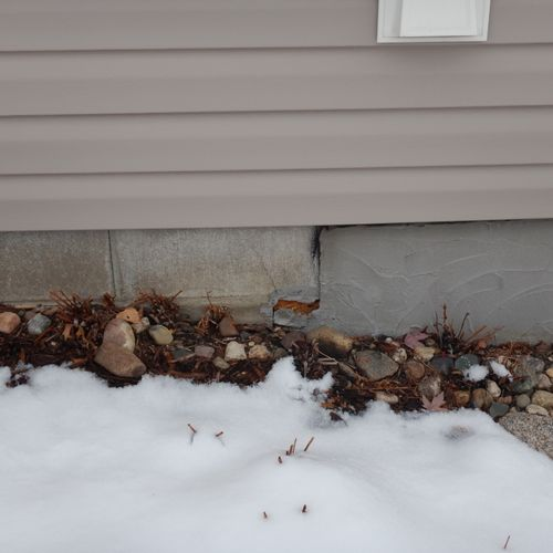 Foundation coating issues