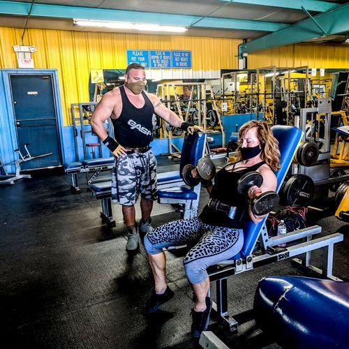 Training day at Mandrill's Gym
