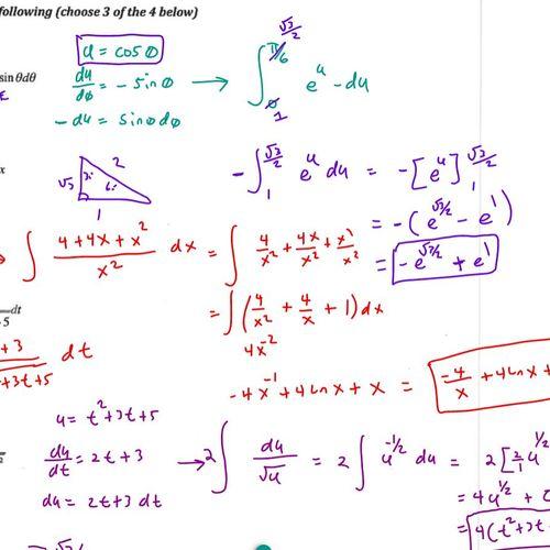 Calculus Integrals