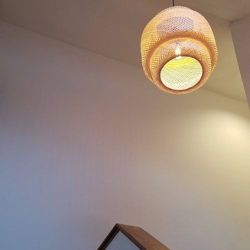 new chandelier lighting fixture installation