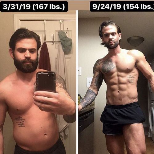 My own personal 6 month transformation.