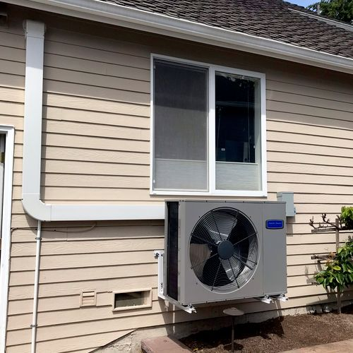 Side discharge units are always a good choice when space is a concern.