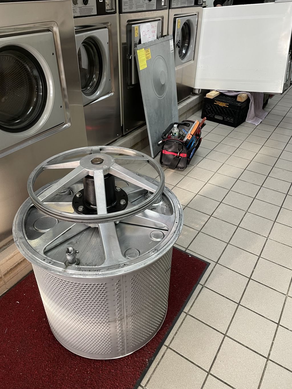 Bearing job on the washer