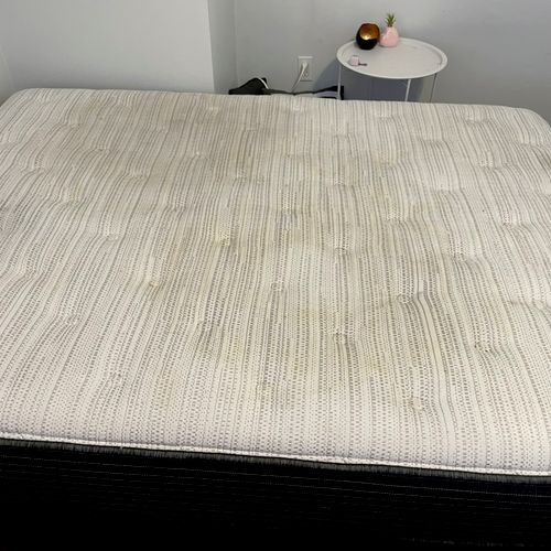 We do mattresses too. BEFORE, swipe for after.