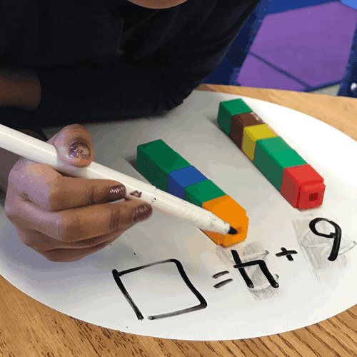 Our youngest students need as much hands-on work with math as possible. These cubes are a great way to show a concrete representation of addition.
