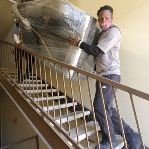 Stairs are no problem for our crews at Reliant Moving Services LLC