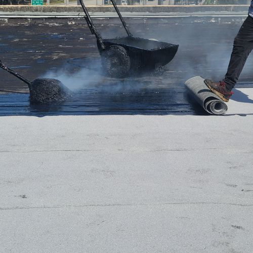 Commercial Shopping center Roof Recover