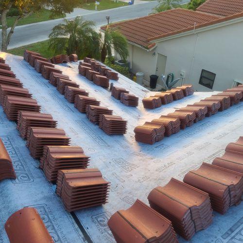 Tile Reroof at Boynton Beach FL