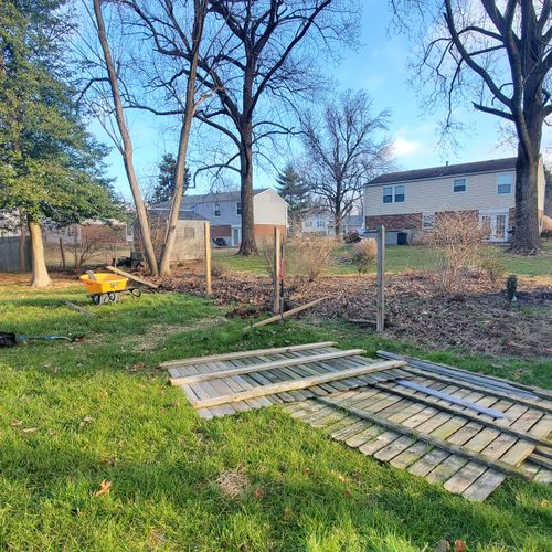 Privacy fence removal