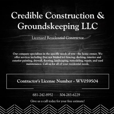 Avatar for Credible Construction & Groundskeeping LLC