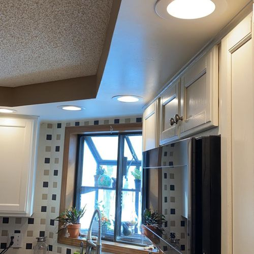 Recessed lights updated to LED recessed.