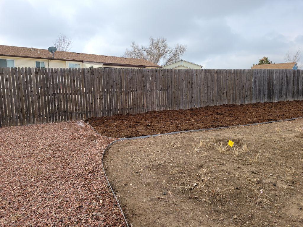 Rock and mulch