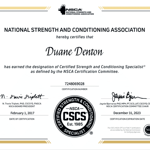 Certifications kept current