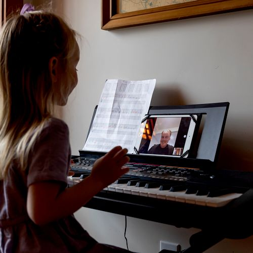 Piano lessons on FaceTime!