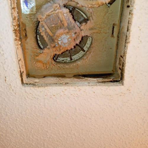 Before Bathroom Exhaust Fan