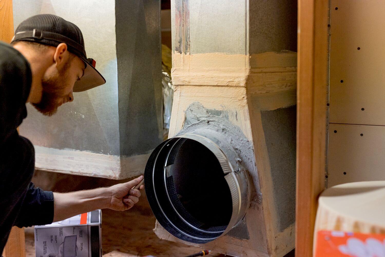 installing HVAC system